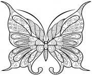 papillon insecte jolis motifs 9 dessin à colorier