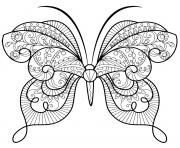 Coloriage papillon zentangle jolis motifs 15