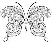 papillon zentangle jolis motifs 15 dessin à colorier