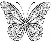 papillon jolis motifs 5 dessin à colorier