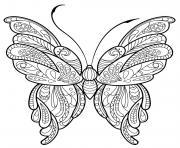 papillon zentangle jolis motifs 16 dessin à colorier