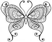 papillon adulte jolis motifs 10 dessin à colorier
