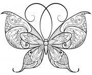 papillon adulte jolis motifs 13 dessin à colorier