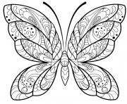 papillon jolis motifs 2 dessin à colorier