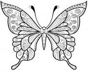 papillon jolis motifs 4 dessin à colorier