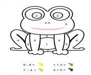 magique cp grenouille verte dessin à colorier