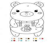 magique cp un ours en salopette dessin à colorier