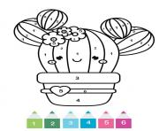 magique cp un cactus kawaii dessin à colorier