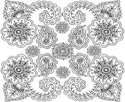 adulte fleurs motifs varies dessin à colorier