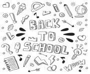 Coloriage bienvenue a la rentree scolaire dessin