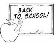 pomme vers de terre retour scolaire dessin à colorier