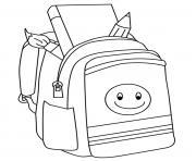 rentree scolaire sac a dos dessin à colorier