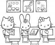 Coloriage retour rentree scolaire ecole dessin
