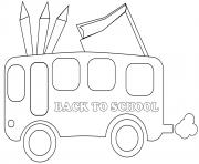 Coloriage mots rentree scolaire icones amusants dessin