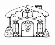 Coloriage superbe maison de noel 25 decembre dessin