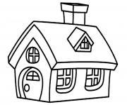 Coloriage maison batiments architecture dessin