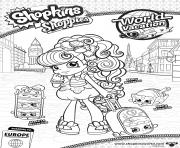 shopkins shoppies macy melty stack macaron family dessin à colorier