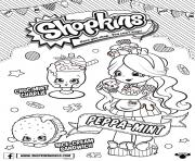 Shopkins Doll Chef Club Peppa Mint dessin à colorier