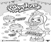 Shopkins Doll Chef Club Jessicake dessin à colorier