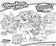 Shopkins Shoppies Cute Vacation dessin à colorier