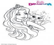 Gulli Barbie au Royaumes des Paillettes dessin à colorier