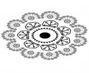 Mandala fleur 6 dessin à colorier