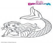 Gulli Barbie Sirene Arc en Ciel dessin à colorier