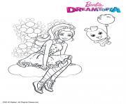 Gulli Barbie au Royaume des Bonbons dessin à colorier