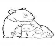 Panda 6 dessin à colorier