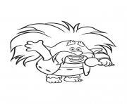 Les Trolls Roi Papy dessin à colorier