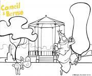 Corneil et Bernie au parc dessin à colorier