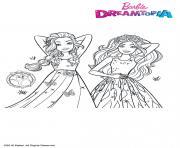 Barbie Princesses Chevelures Magiques dessin à colorier