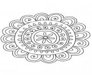 Coloriage Gulli Mandala nature 8