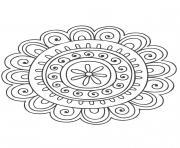 Gulli Mandala nature 8 dessin à colorier