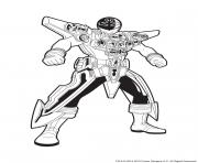 Coloriage Power Rangers Argent en Armure