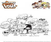 La famille Loud dessin à colorier