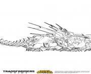 Gulli Transformers prime Beast Hunters Predaking 4 dessin à colorier