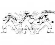 Les Rangers dessin à colorier