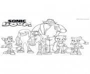 Gulli Les personnages de Sonic Boom dessin à colorier