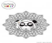 Mandala Pandy dessin à colorier
