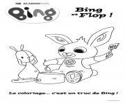 bing et flop dessin à colorier