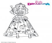 Barbie Princesse Bonbons dessin à colorier