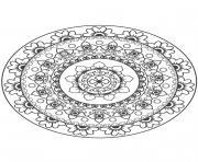 Gulli Mandala fleur 10 dessin à colorier
