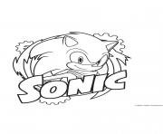 Coloriage Sonic fun