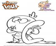 Gulli Lily Bienvenue chez les Loud dessin à colorier