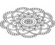Gulli Mandala fleur 11 dessin à colorier