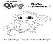 Gulli bing sula et amma Gulli dessin à colorier