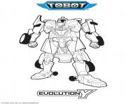 Tobot Evolution Y dessin à colorier