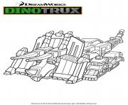 Gulli Dozer DinoTrux dessin à colorier