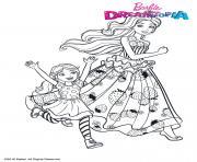 Barbie et Chelsea au Royaume des Bonbons dessin à colorier